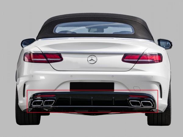 Heckumrüstung 63 AMG S-Klasse Coupe Cabrio chrom