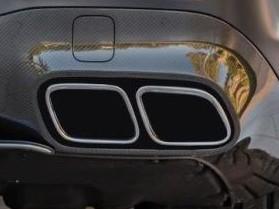 Auspuffumrüstung schwarz auf AMG GT 63 S für Mercedes AMG GT 43 und 53 4-Türer Coupe X290