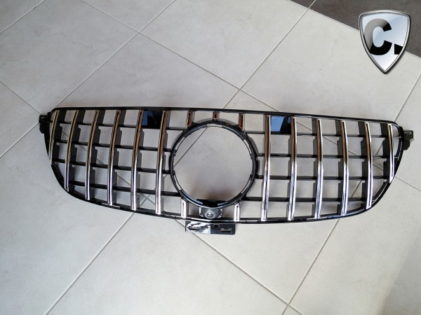 Grille Panamericana Style silver for Mercedes GLE Coupe C167 and GLE SUV V167