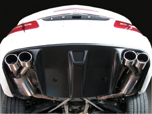4-Rohr Edelstahl-Auspuffanlage, Version Cabrio 6/8-Zylinder