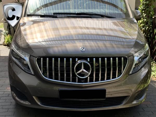 Panamericana Style Kühlergrill chrom/schwarz für Mercedes V-Klasse 447 Vor-FL