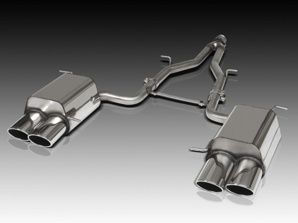 Quadro 4-Pipe Stainless Steel Exhaust, Version 6-Zylinder