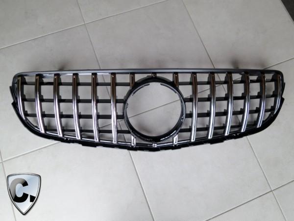 Panamericana Style Kühlergrill chrom schwarz für Mercedes GLK X204 Facelift