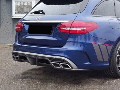 Heckdiffusor für Mercedes C-Klasse W205 AMG Line inclusive Endrohren