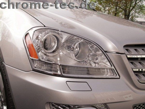 Chromed headlight frames
