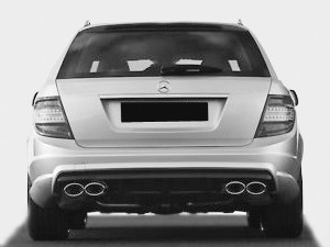C63 AMG Rear Bumper Kit W204 T-Model without PDC for Prefacelift