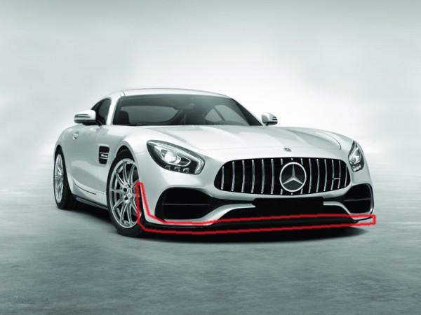 Frontspoilerlippe mit Flaps für AMG GT und AMG GTS Coupe Facelift