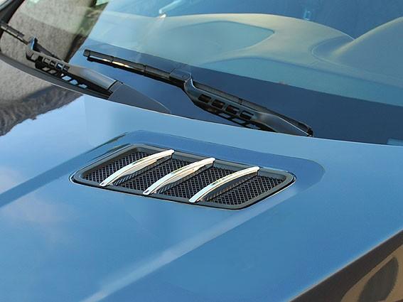 Chromed bonnet fins - Mercedes ML W166