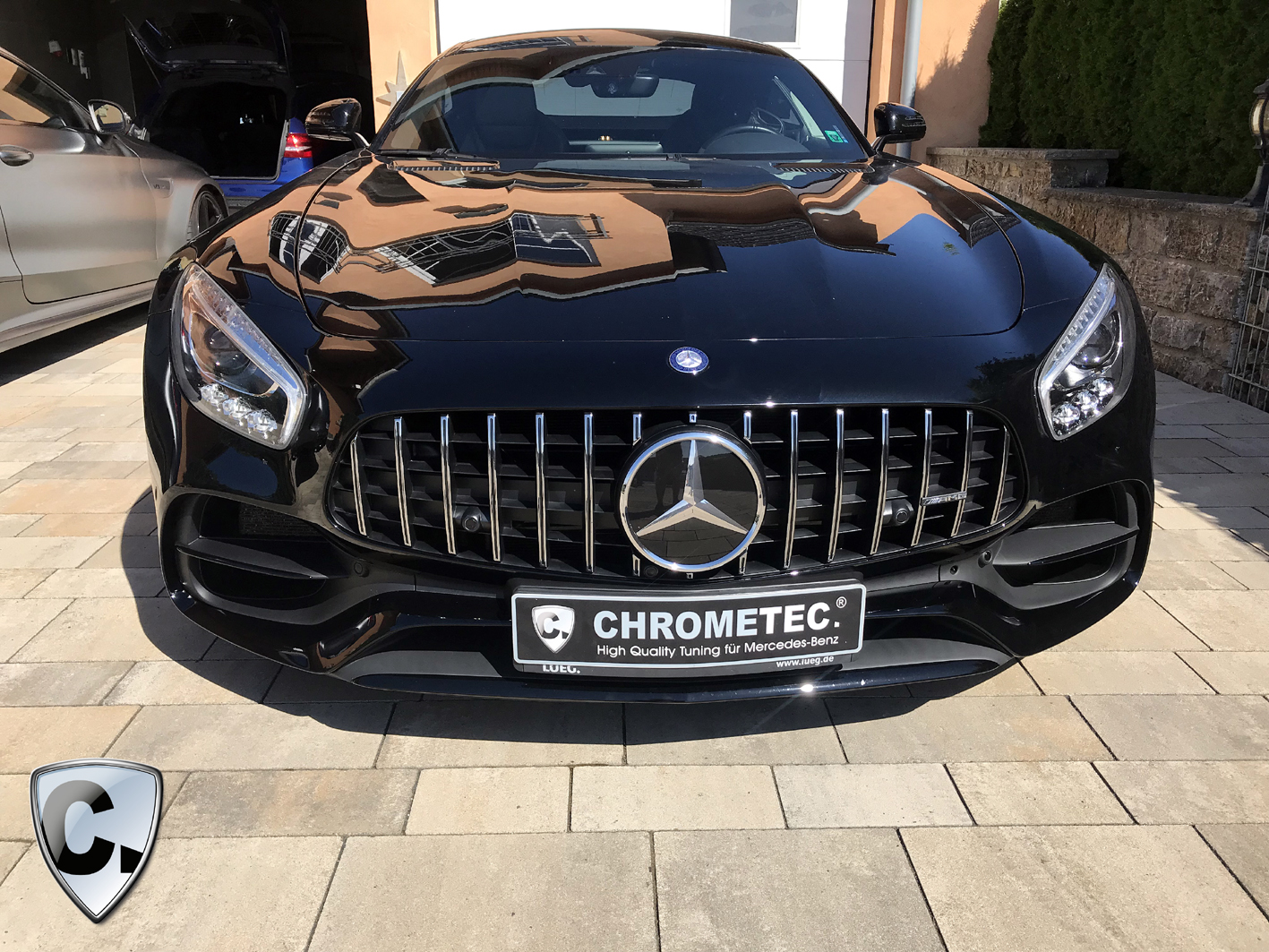 Mercedes Amg Gt Coupe With A Front Upgrade Facelift Panamericana From Chrometec Chrometec