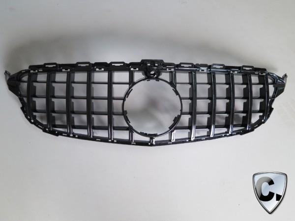 Kühlergrill Panamericana Style schwarz für Mercedes GLE SUV NUR GLE 63 AMG