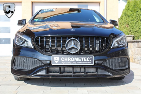 Radiator grille Panamericana Style black without 360 degrees for Mercedes A-Klasse W177