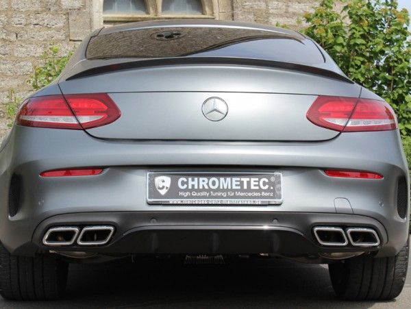 C63 Rear Upgrade Chrome for Mercedes C-Class Coupe C205 and Cabrio A205 AMG Style
