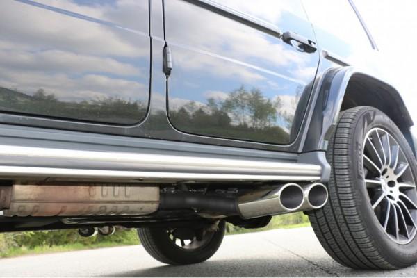Auspuff-Endrohr Umrüstsatz G63 AMG für die neue Mercedes G-Klasse G500 W463 ab Mj. 2018