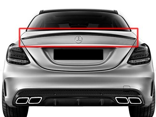 AMG Rear Spoiler Lip for Mercedes C-Class W205 Sedan