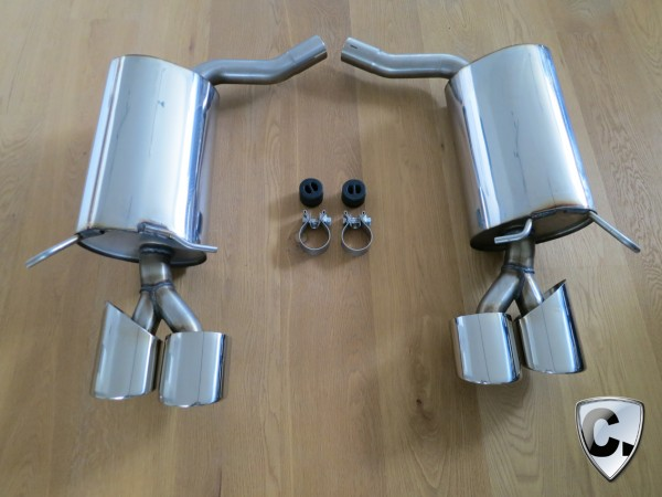 4-pipe exhaust boxes for all W204 6 Cylinder Models