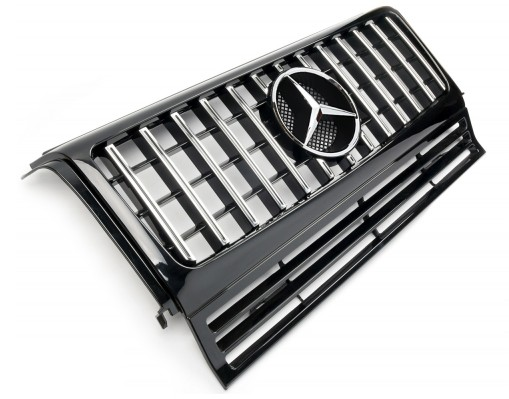 Kühlergrill Panamericana Style silber-chrom für Mercedes G-Klasse W463