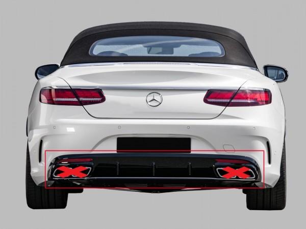 S63 AMG Facelift Heckumrüstung xchwarz für S-Klasse 63 AMG Coupe C217 und Cabrio A217 Vorfacelift