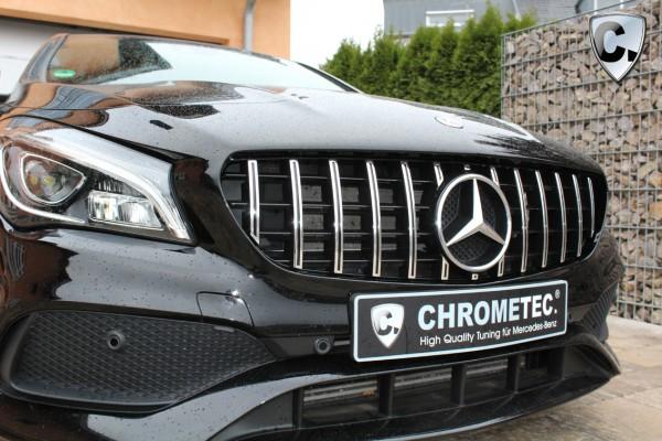 Kühlergrill Panamericana Style chrom für Mercedes CLA W117 und CLA X117 Shooting Brake
