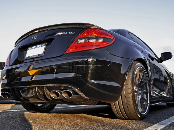 RS Heckdiffusor 4-Rohr Version für den SLK 55 AMG CARBON