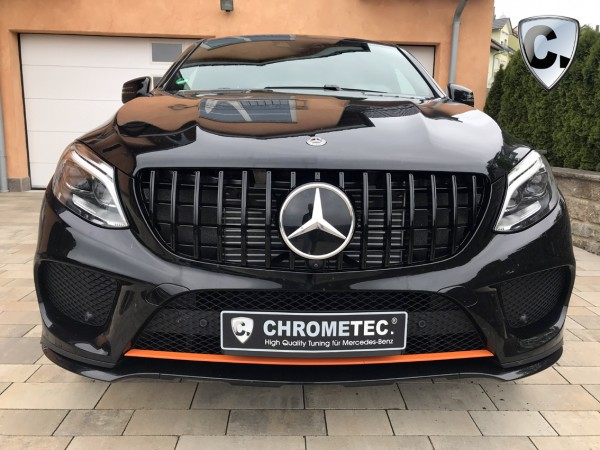 Kühlergrill Panamericana Style schwarz für Mercedes GLE Coupe C292