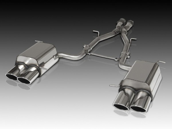 4-pipe exhaustboxes PERFORMANCE for SLK 280 + 350