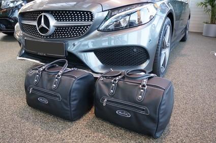 Roadsterbag Rücksitztaschen Vollleder für Mercedes E-Klasse Cabrio A238