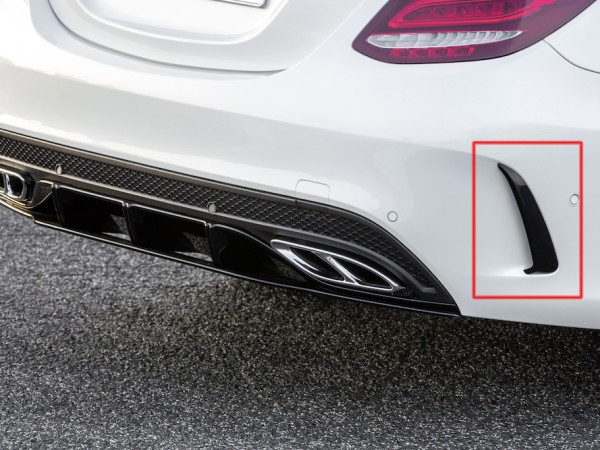 Rear Bumper Flaps Edition 1 for the Mercedes Coupe and Cabrio AMG Line