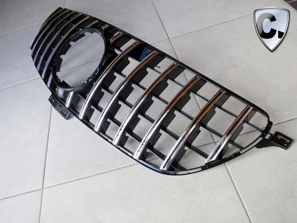 Kühlergrill Panamericana Style silber für Mercedes GLE SUV W166