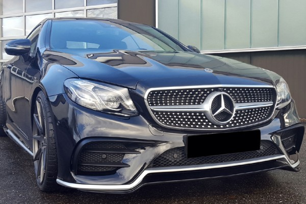 Front Spoiler Lip for Mercedes E-Class Coupe and Cabrio with AMG-Line