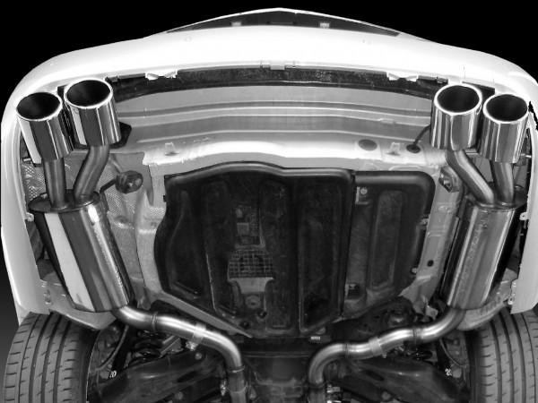 4-Rohr Edelstahl-Auspuffanlage, Version Coupe 6/8-Zylinder