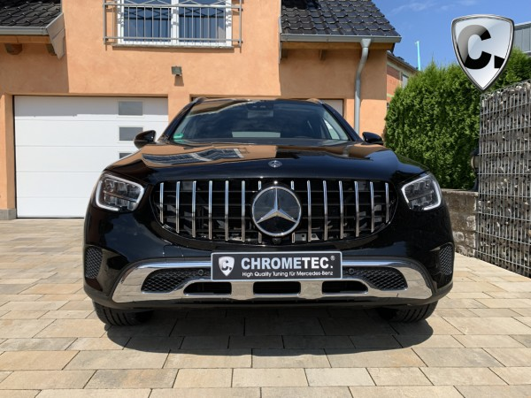 Radiator Grill Panamericana Style black Mercedes GLC SUV and Coupe Facelift Serie