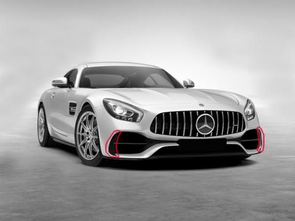 Flaps Lufteinlässe für Mercedes AMG GT und AMG GTS Coupe Facelift