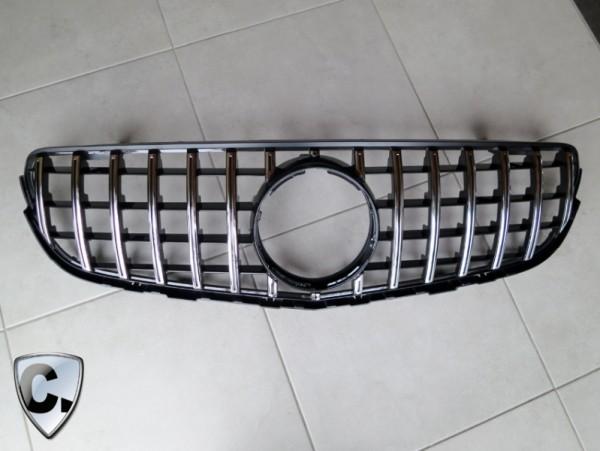 Panamericana Style Grille chrome black for Mercedes GLB X247 Standard Equipment