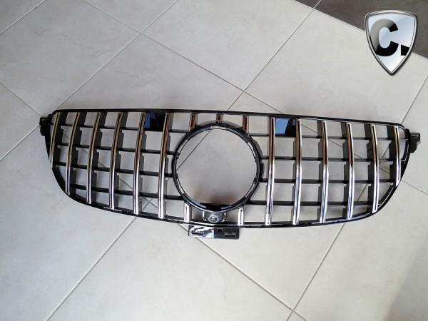 Kühlergrill Panamericana Style silber für Mercedes GLS X166 Facelift