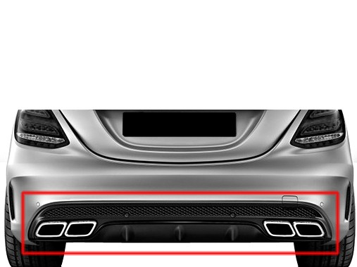 C63 AMG Heckumrüstung Chrom für Mercedes C-Klasse W205 AMG Style