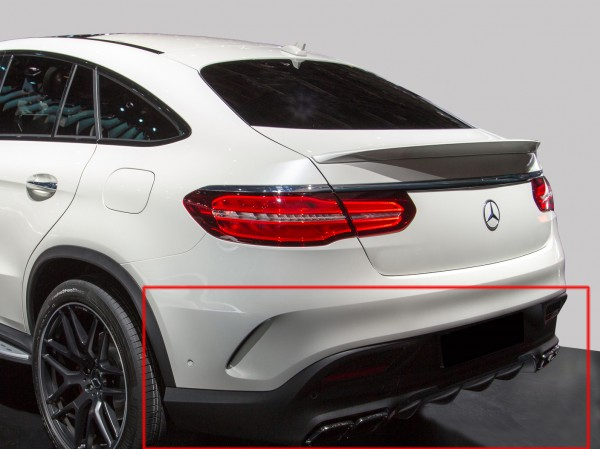 Rear Upgrade to AMG GLE 63 silver für Mercedes GLE Coupe