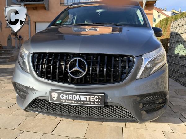 Panamericana Style Kühlergrill schwarz für Mercedes Vito 447 Vor-FL