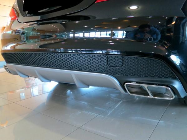 Mercedes CLA W117 - CLA 45 AMG Heckumrüstung Endrohre Chrom