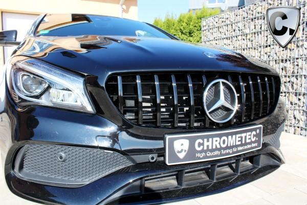 Kühlergrill Panamericana Style schwarz für Mercedes alle CLA W117 und CLA X117 Shooting Brake