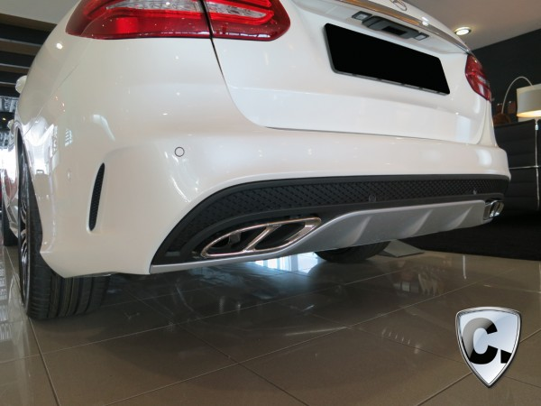 Tailpipes C450 AMG chrome for Mercedes C-Class W205