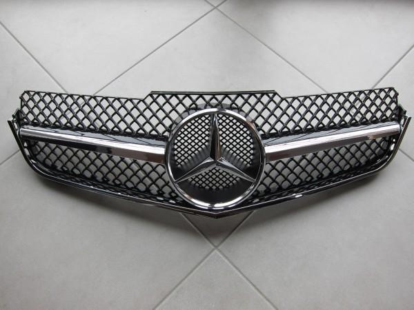 1-Lamellen Sportgrill für Mercedes E-Coupe und E-Cabrio