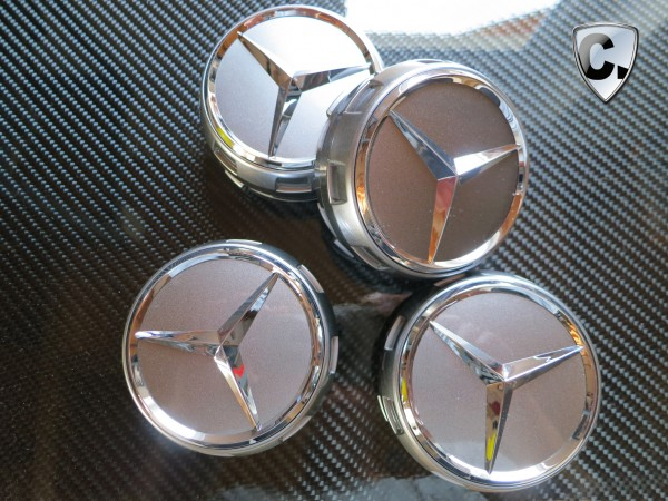 Hub Caps Central Locking Design Silver mat - Mercedes E-Class W207