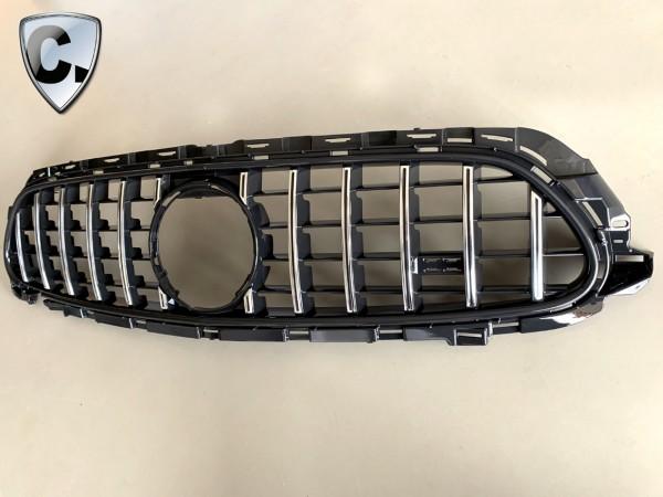 Kühlergrill Panamericana Style chrom-schwarz für E-Klasse W213 FACELIFT mit AMG-Line
