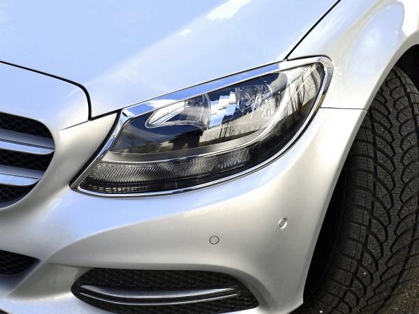 Mercedes C-Class W205 - Chrome Headlight Frames