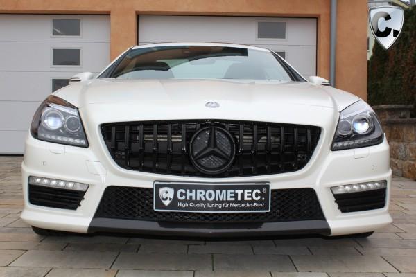 Kühlergrill Panamericana Style schwarz hochglanz für Mercedes SLC R172