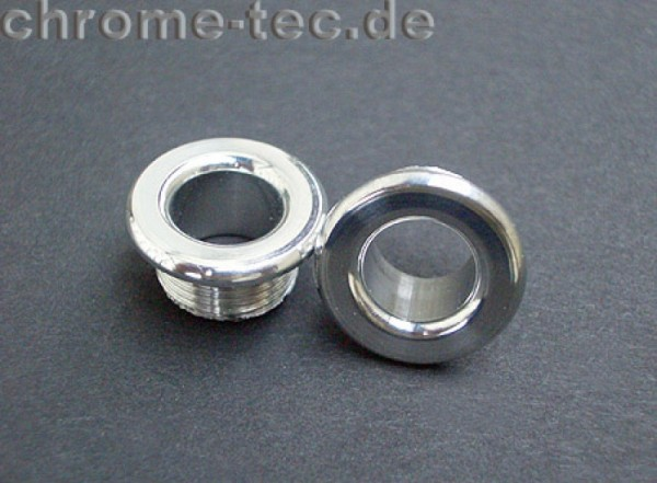chrome design door lock pin surrounds