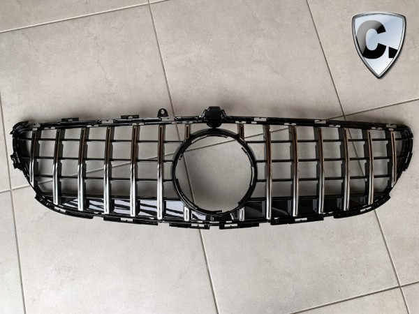 Radiator Grill Panamericana Style silver for Mercedes CLS W218 Facelift