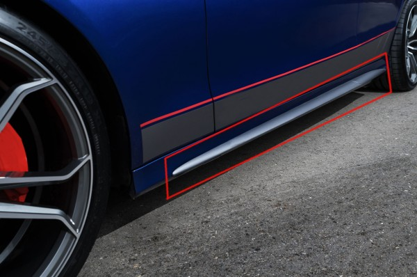 Side Sill Edition 1 Style for Mercedes C-Class Coupe and Cabrio