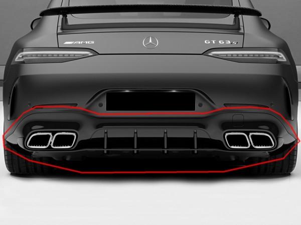Heckdiffusor Edition 1 Aero Paket schwarz für Mercedes AMG GT 63 4-Türer X290