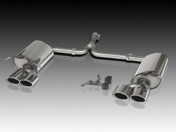 4-Rohr Edelstahl Auspuffanlage, 4 Zylinder für die C-Klasse W204